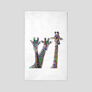 Giraffes in New Pajamas Area Rug
