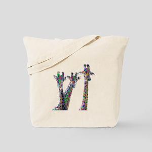 Giraffes in New Pajamas Tote Bag