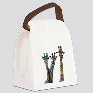 Giraffes in New Pajamas Canvas Lunch Bag