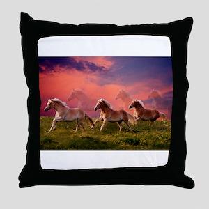 HAFLINGER HORSES Throw Pillow