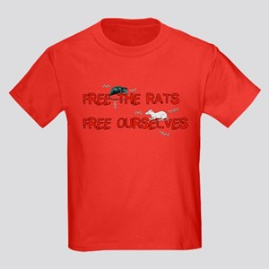 Free The Rats Free Ourselves Kids Dark T-Shirt