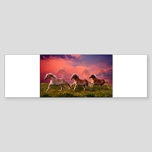 HAFLINGER HORSES Bumper Sticker