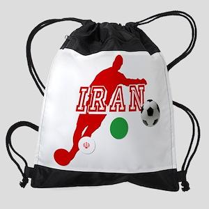 Iran Football Player Drawstring Bag