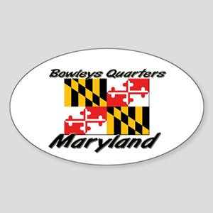 Bowleys Quarters Maryland Oval Sticker