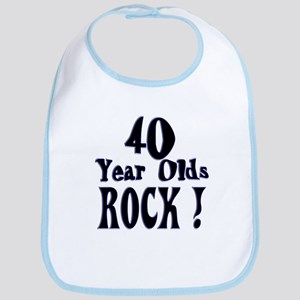 40 Year Olds Rock ! Bib