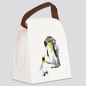 Parent-child Penguin Canvas Lunch Bag