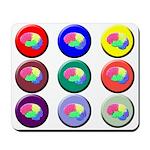 Brain Buttons Mousepad