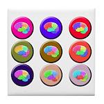 Brain Buttons2 Tile Coaster