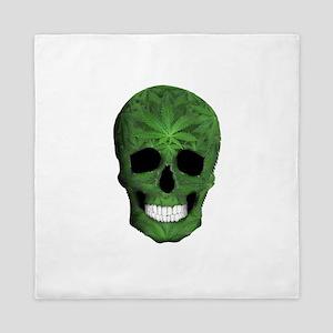 Pot Leaf Skull Queen Duvet