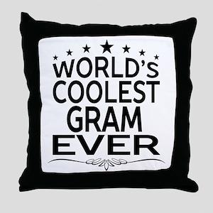 WORLD'S COOLEST GRAM EVER Throw Pillow
