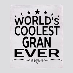 WORLD'S COOLEST GRAN EVER Throw Blanket