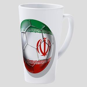 Iran Soccer Ball 17 Oz Latte Mug