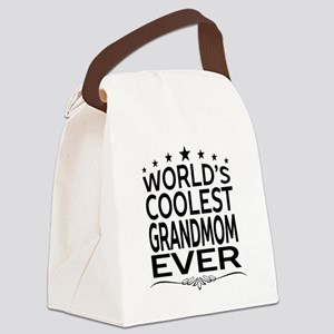 WORLD'S COOLEST GRANDMOM EVER Canvas Lunch Bag