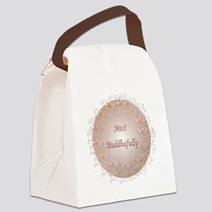 Most Buddhafully RedPink Canvas Lunch Bag