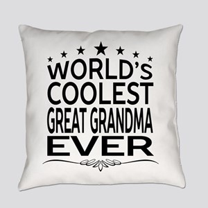 WORLD'S COOLEST GREAT GRANDMA EVER Everyday Pillow