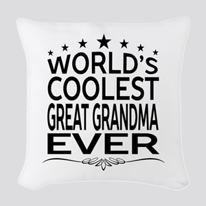 WORLD'S COOLEST GREAT GRANDMA EVER Woven Throw Pil