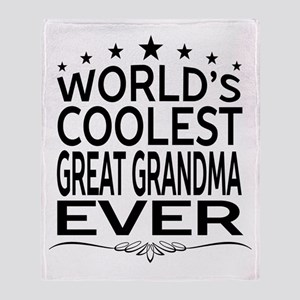 WORLD'S COOLEST GREAT GRANDMA EVER Throw Blanket