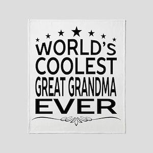 WORLD'S COOLEST GREAT GRANDMA EVER Throw Blanket