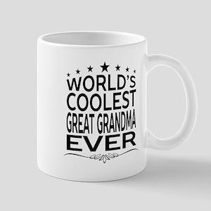 WORLD'S COOLEST GREAT GRANDMA EVER Mugs