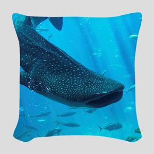 WHALE SHARK 2 Woven Throw Pillow