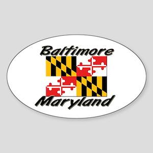 Baltimore Maryland Oval Sticker
