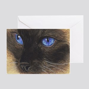 Siamese Eyes Greeting Cards