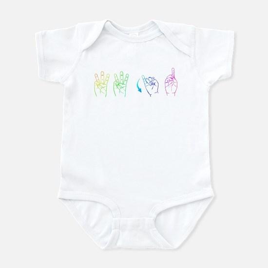 Rainbow ASL WWJD Infant Bodysuit