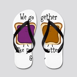 Peanut Butter and Jelly Flip Flops