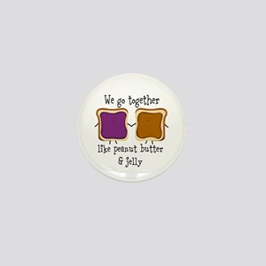 Peanut Butter and Jelly Mini Button