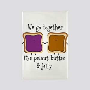 Peanut Butter and Jelly Magnets
