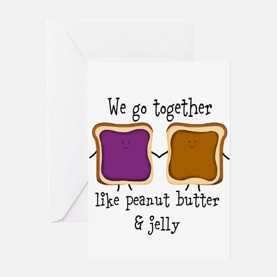 Peanut Butter and Jelly Greeting Cards
