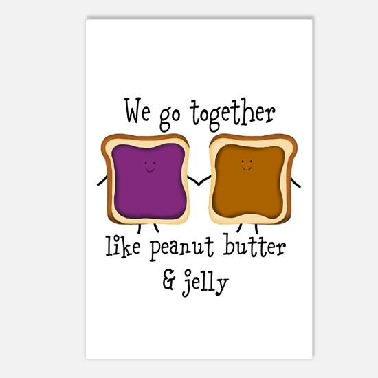 Peanut Butter and Jelly Postcards (Package of 8)