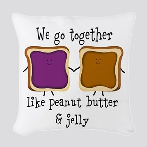 Peanut Butter and Jelly Woven Throw Pillow