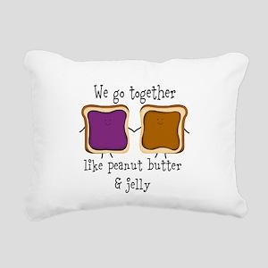 Peanut Butter and Jelly Rectangular Canvas Pillow