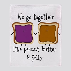 Peanut Butter and Jelly Throw Blanket