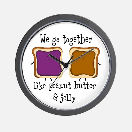 Peanut Butter and Jelly Wall Clock