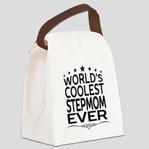 WORLD'S COOLEST STEPMOM EVER Canvas Lunch Bag
