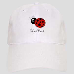 Red and Black Personalizable Ladybug Baseball Cap