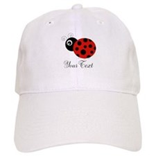 Red and Black Personalizable Ladybug Baseball Cap
