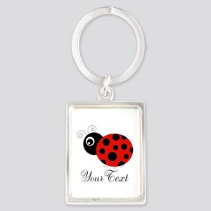 Red and Black Personalizable Ladybug Keychains