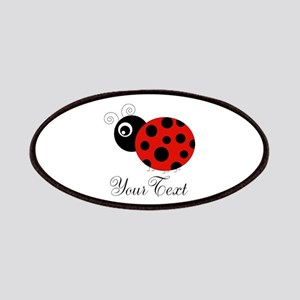 Red and Black Personalizable Ladybug Patch
