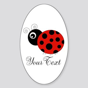 Red and Black Personalizable Ladybug Sticker
