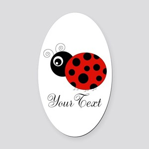 Red and Black Personalizable Ladybug Oval Car Magn