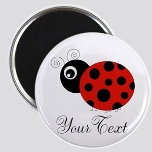 Red and Black Personalizable Ladybug Magnets
