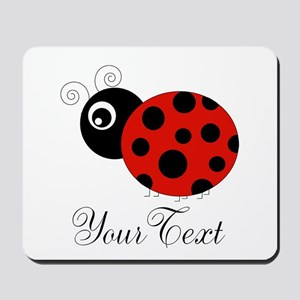 Red and Black Personalizable Ladybug Mousepad