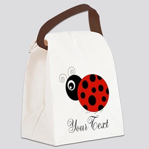 Red and Black Personalizable Ladybug Canvas Lunch