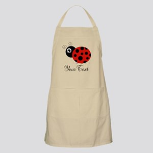 Red and Black Personalizable Ladybug Apron