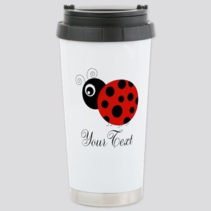 Red and Black Personalizable Ladybug Travel Mug