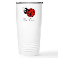 Red and Black Personalizable Ladybug Travel Mug