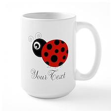 Red and Black Personalizable Ladybug Mugs